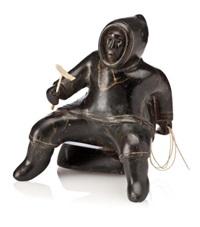 seated fisherman by akeeaktashuk