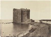 ile saint-honorat le donjon et chateau de tarascon (2 works) by charles nègre