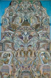 composition symbolique - l'énigme des siècles by augustin lesage