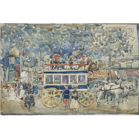 the paris omnibus by maurice brazil prendergast