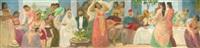 la noce juive à alger (study) by armand jacques assus