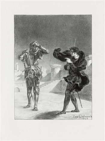 hamlet set of 16 by eugène delacroix