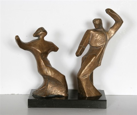 dancing couple by pearl amsel