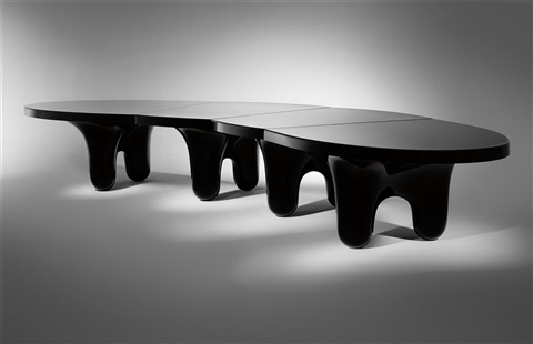 black edition big table from the molar series by wendell castle