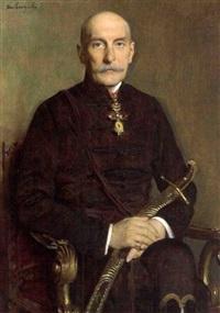 nikolaus fürst palffy in ungarischer magnatenuniform by heinrich von angeli