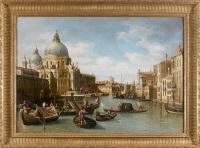 l'entrée du grand canal et l'église santa maria della salute by canaletto