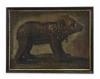 a bear cub with a collar by michelangelo di campidoglio