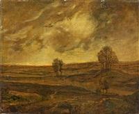 la plaine au crepuscule by théodore rousseau
