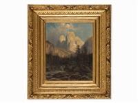 mountain river by theodor (wilhelm t.) nocken