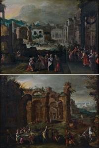 le festin du fils prodigue et le retour du fils prodigue (2 works) by gillis van valckenborch