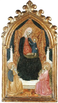 the madonna and child with two angels by alvaro di piero (pedro)