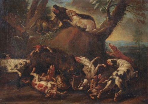 die wildschweinhatz by carl borromaus andreas ruthart