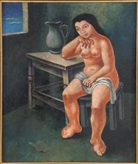 desnudo de muchacha by mario carreño