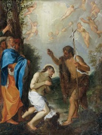 le baptême du christ by lodovico carracci