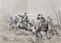 le duc d'aumale au bois des oliviers by pierre-antoine labouchere