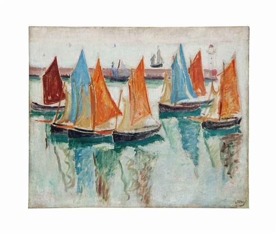 bateaux se pérdue dans le port by jean puy