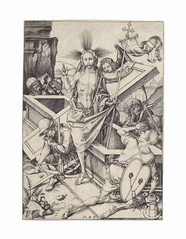 the resurrection from the passion of christ by martin schongauer