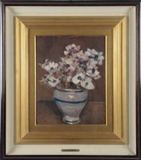 natura morta con vaso di fiori by lodovico tommasi