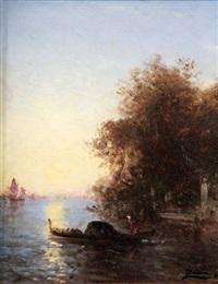 Venise, gondole devant le jardin français