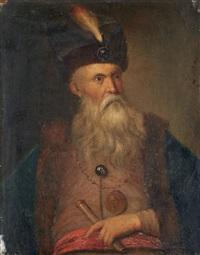 portrait d'homme en toque de fourrure by german school (18)