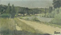 bord de rivière (+ 2 others, lrgr; 3 works) by ferdinand heilbuth