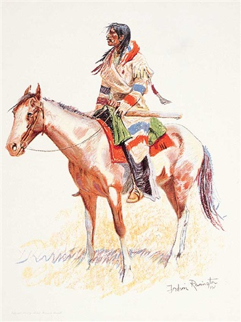 a bunch of buckskins a breed by frederic remington