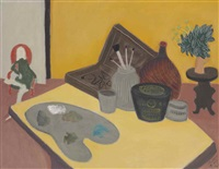 artist's work table by milton avery