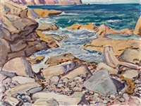 stony shore, cape breton island by arthur lismer