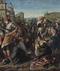 christ on the road to calvary by bernaert (barend) van orley
