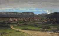 paysage près d'ornans by gustave courbet