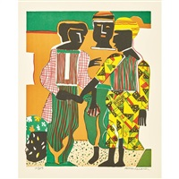 conjunction by romare bearden