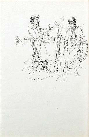 trenzando cuero ilustración para don segundo sombra capitulo x by antonio berni