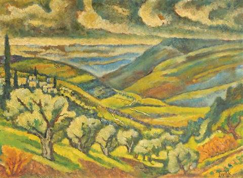 landscape in the galilee by arieh allweil