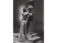 miss nicole, evening dress by schiaparelli by george hoyningen-huene