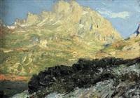 paesaggio in alta montagna by lidio ajmone