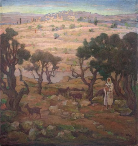 a shepherd in the jerusalem mountains by wilhelm wachtel