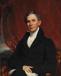 a portrait of major richard delafield (collab. w/william jewett) by samuel lovett waldo