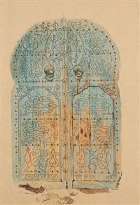 portes dans la médina de tunis, l'une rue sidi kacem (+ another, lrgr; 2 works) by louise marie peyre