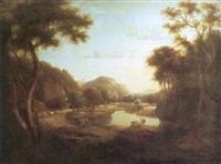 paysage animé à l'antique, procession pour le sacrifice by robert freebairn