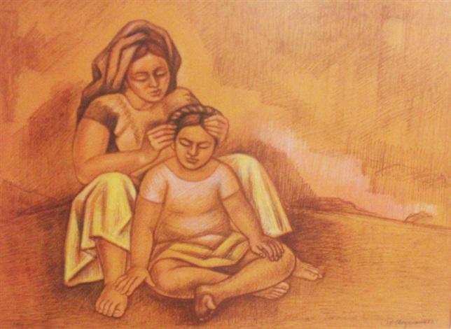 peinando a la niña by raúl anguiano