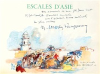 escales d'asie (bk w/1 work) by dominique charles fouqueray