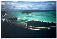 aerial view, lakshadweep island by raghu rai