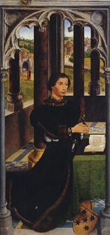 portrait of a male donor, (francisco de rojas?) by hans memling