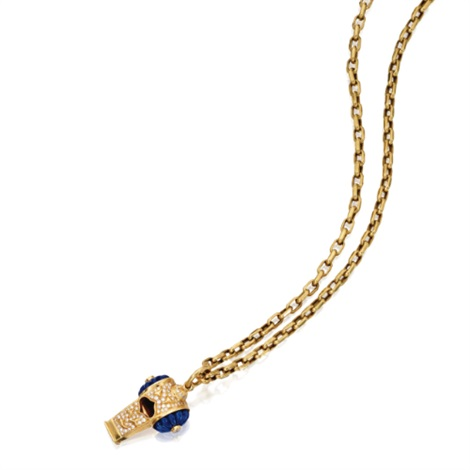 a whistle pendant necklace by harry winston