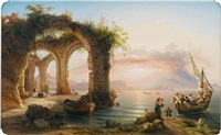 the bay of naples from posillipo by eduard agricola