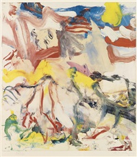 figures in landscape #6 by willem de kooning