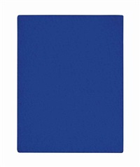 untitled blue monochrome (ikb 164) by yves klein