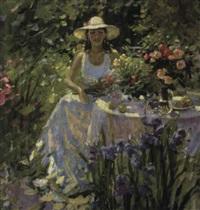 dans le jardin fleurissant by igor samsonov