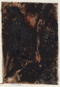 black painting by mark tobey