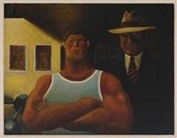 el atleta y su manager by abel quezada